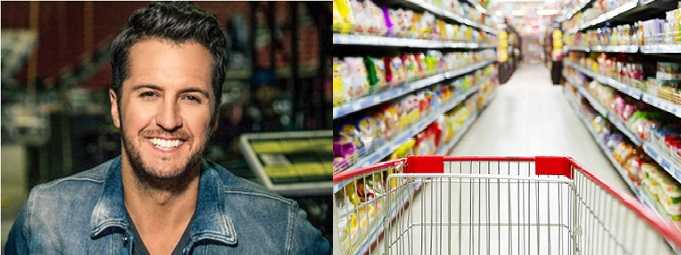 Luke Bryan worked in a grocery store before he became famous