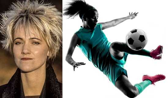 Marie Fredriksson loved to play football