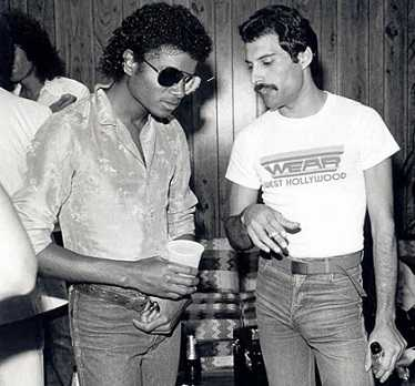 Michael Jackson and Freddie Mercury never got along with each other.