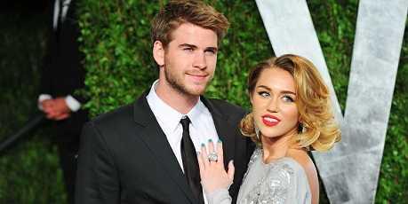 Miley Cyrus with husband Liam Hemsworth