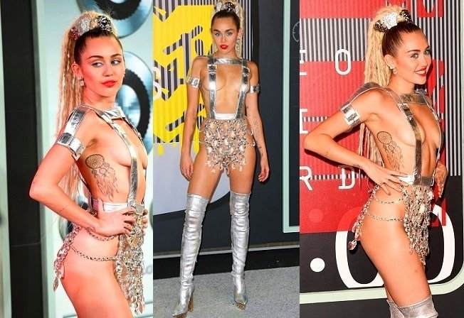 Sexy Miley Cyrus scantily dressed for MTV VMAs