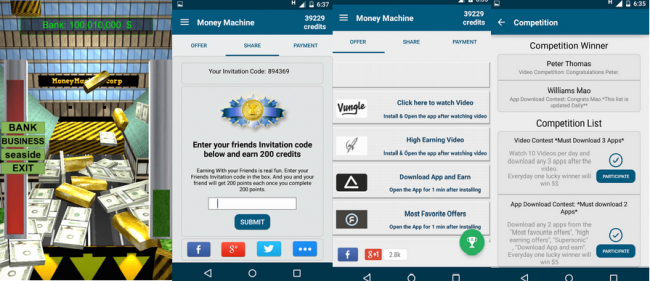 earn rewards with MoneyMachine app