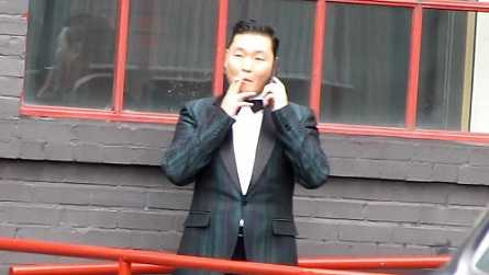 PSY is a chain smoker