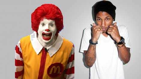 Mcdonalds fired Pharrell Williams thrice