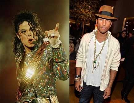 Pharrell Williams with Michael Jackson