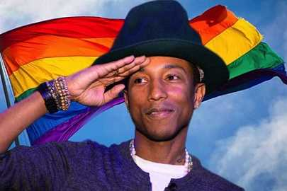 Pharrell Williams supports the LGBT community