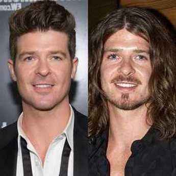 Robin Thickes bad long hair in 2000s made him unpopular