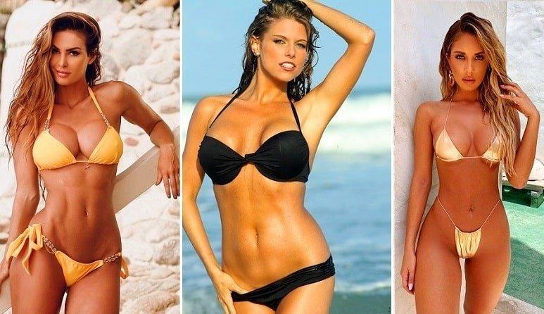 Topless bikini models nude