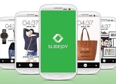 make money sliding your phone - slidejoy