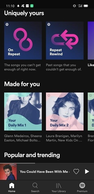 Spotify mobile app screenshot
