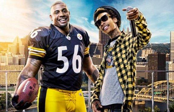 Wiz Khalifa is a die hard fan of  Pittsburg Steelers