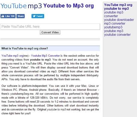 Youtube to mp3 is illegal