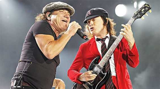 Brian Johnson and Agnus Young of ACDC