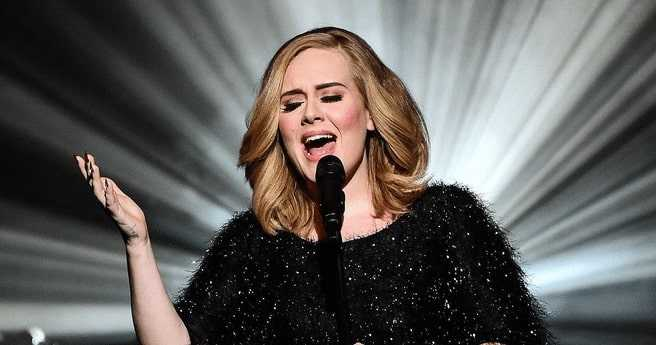 Cute pic of Adele