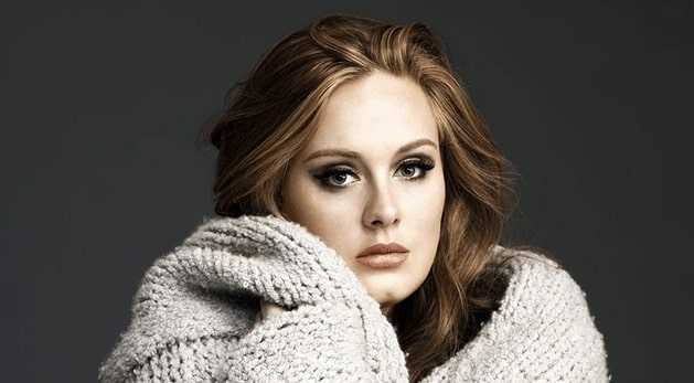 Beautiful eyes of Adele
