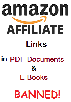 amazon affiliate links in ebooks and pdf documents, banned