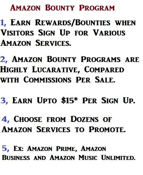 Benefits of Amazon Bounty Program