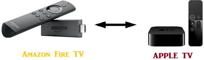 difference between amazon fire tv and apple tv