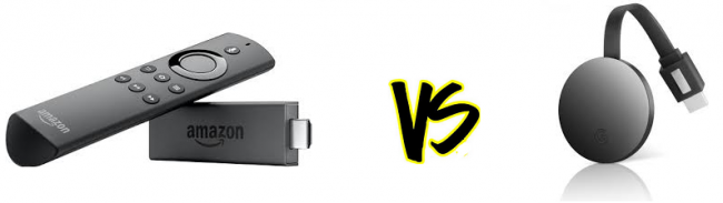 difference between amazon fire tv and google chromecast ultra 4k