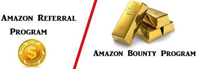 Difference between Amazon Affiliate program and Amazon Bounty program