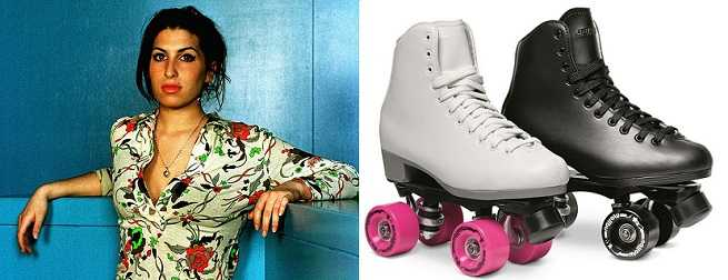 Amy Winehouse wanted to be a professional roller skater.