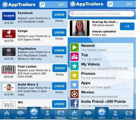 earn rewards watching movie trailers