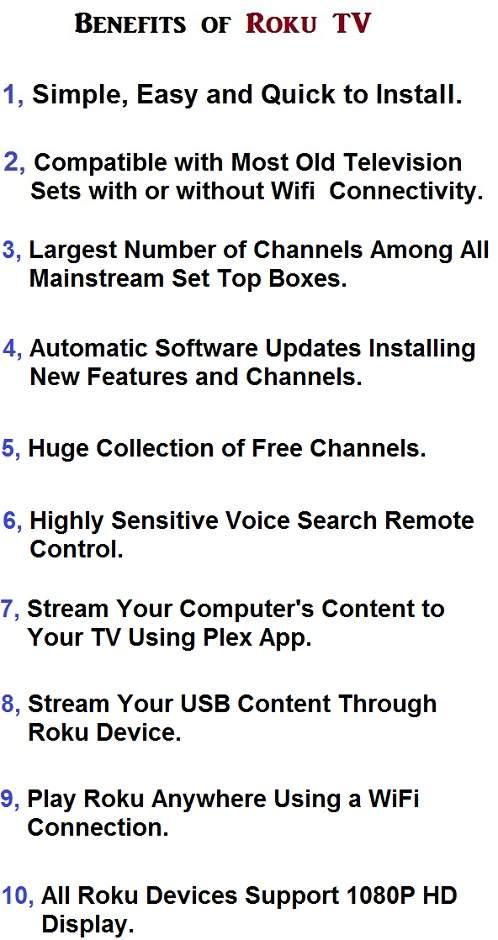 Advantages of Roku TV