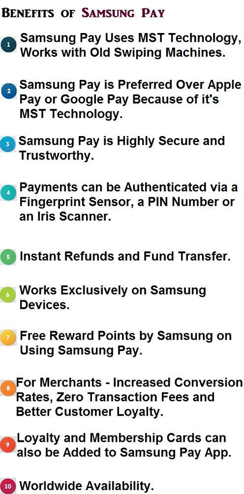 Advantages of samsung pay