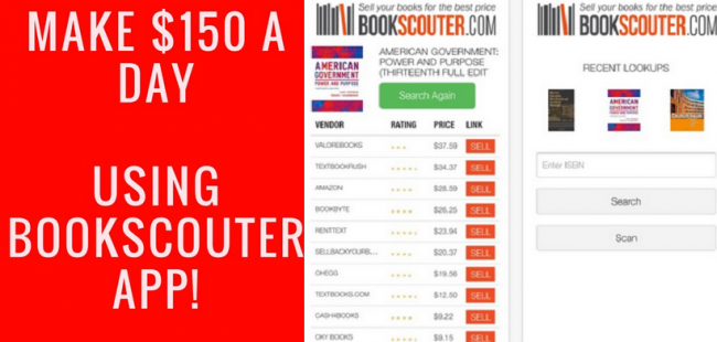 bookscouter app - make money selling books