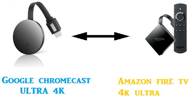 difference between google chromecast ultra 4k and amazon fire tv 4k