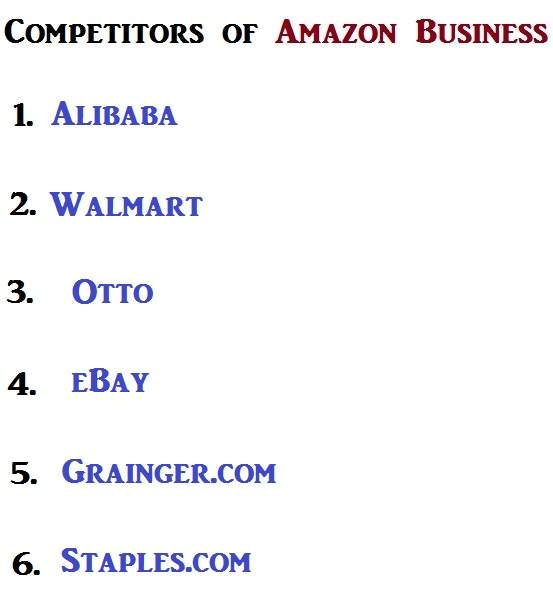 Who are the main competitors to Amazon Business