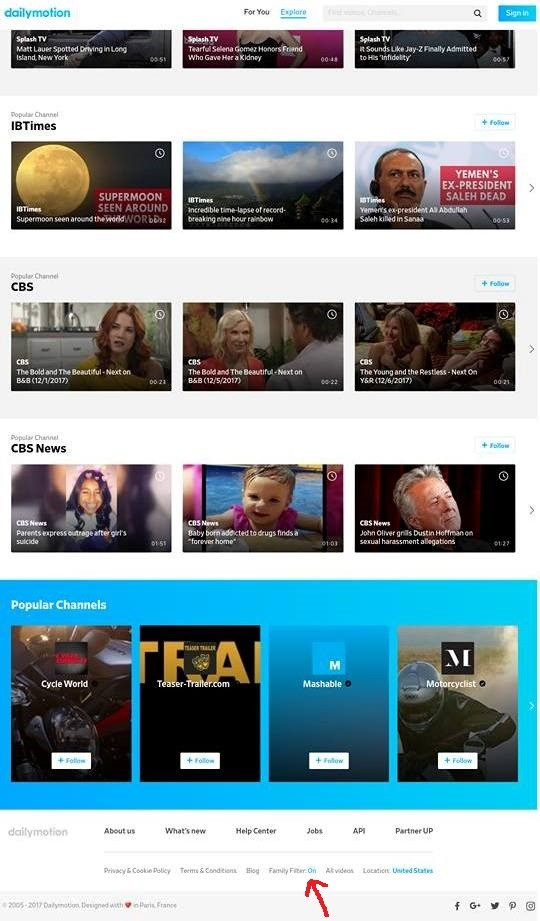 Dailymotion Age Restriction On Family Filter On
