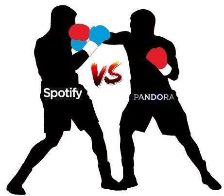 Difference between Spotify music streaming and Pandora One music