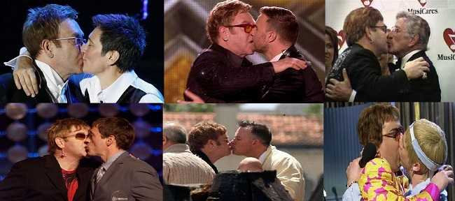 Gay kiss compilation of Elton John