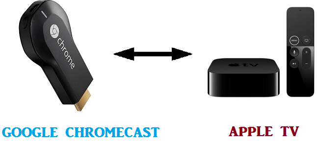 difference between google chromecast and apple tv