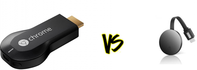 difference between google chromecast and  chromecast ultra 4k hd