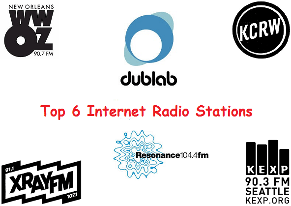 Top 6 internet radio stations