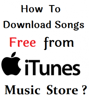 how to download songs itunes music store?