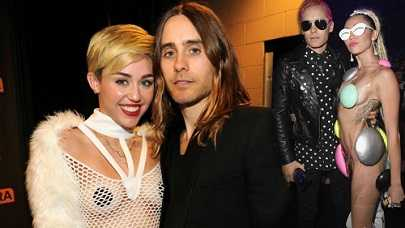 miley cyrus with jared leto