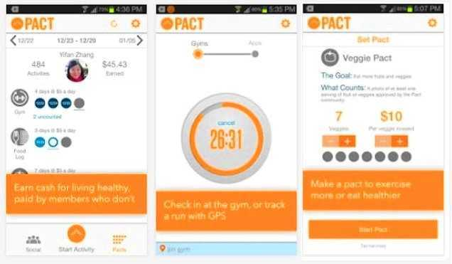 make money working out - pact app
