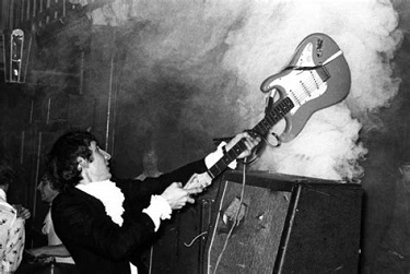 Pete Townshend suffered permanent scars on face and ears after drum explosion.