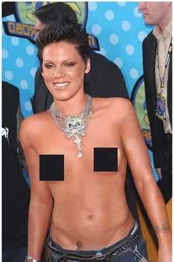 Pink was topless in most parties in 2000s