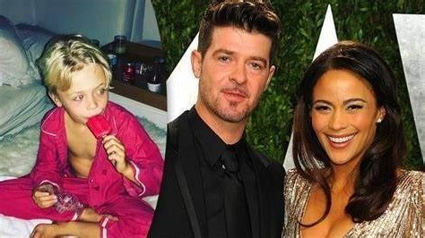 Robin Thicke with his son and ex wife