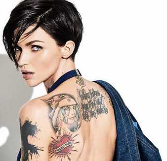 Ruby Rose is the most tattooed female Australian celebrity