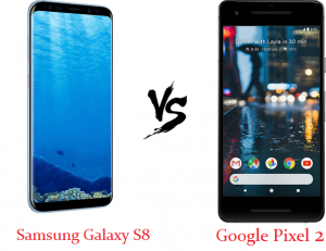 difference between samsung galaxy s8 vs Google Pixel 2