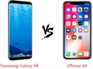 difference between samsung galaxy s8 and iPhone 10
