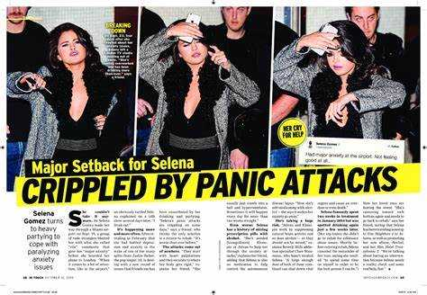 Selena Gomez gets anxiety attack before live performances
