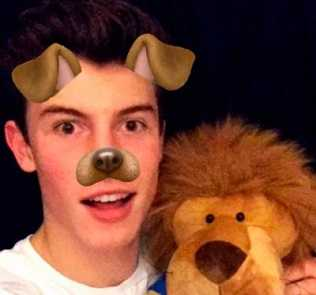 Shawn Mendes loves his stuffed lion leo