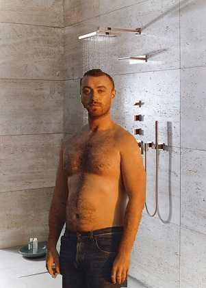 Sam Smith gets motivated by taking a bath
