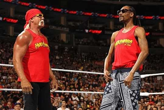 Hulk Hogan with Snoop Dogg